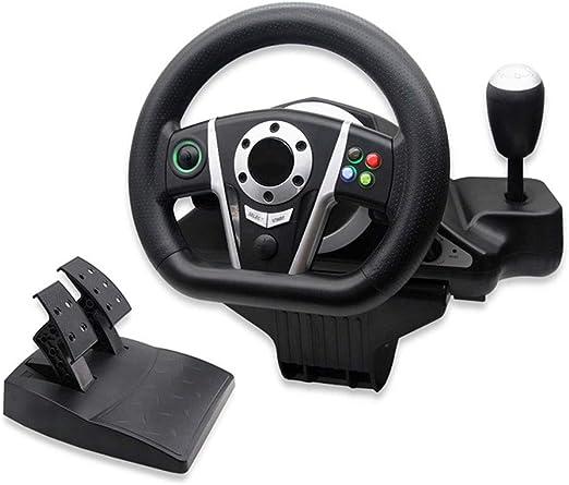 LLGHT Volante de Carreras y Pedales, Compatible con La Plataforma PS3 / PC (D-Input/XINPUT) / Xbox One, Retroalimentación de Vibración, Volante de Juego de Rotación de 270 °: Amazon.es: Hogar
