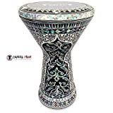 """The Black Widow NG 2.0 Sombaty Gawharet El Fan 18.5"""" Darbuka With Real Green Mother of Pearl"""