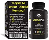 Tongkat Ali | AlphaViril by Dr Sam Robbins | Naturally Boosts Testosterone, Increases Libido, Sex Drive, Strength, Stamina, Energy, Builds Muscle |Made in USA | Maca Root Horny Goat Weed Zinc