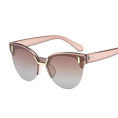 fd6a370caef046 ANHPI Lunettes De Soleil Polarisées Femmes Rétro Demi-cadre Confortable  Parasol UV Protection Cat Eye
