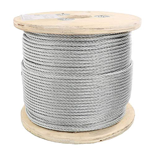 Steel Aircraft Cable 250' 3/8