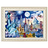 Fanyunhan 5D Square Drill Embroidery Paintings Rhinestone Pasted DIY Diamond Painting Kits for Adults Home Décor