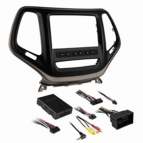 Metra 99-6526BZ Double DIN Dash Kit for Select 2014-Up Jeep Cherokee Vehicles - black with bronze trim