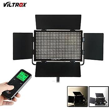 VILTORX VL-40T 40W Super Slim Bi Color Dimmable LED Panel Light , Ultra Thin CRI95 5600K/3300K Photo Studio Video Film Lighting Panel ,with full Aluminum Frame +Remote Controller+AC Adapter