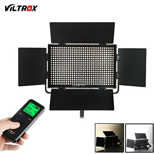 VILTORX VL-40T 40W Super Slim Bi Color Dimmable LED Panel Light , Ultra Thin CRI95 5600K/3300K Photo Studio Video Film Lighting Panel ,with full Aluminum Frame +Remote Controller+AC Adapter by VILTROX