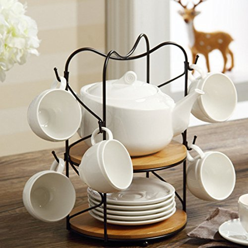 white ceramic teapot set - 5