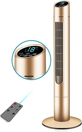 Opinión sobre FHDF Silencioso Ventilador De Torre con Mando a Distancia Portátil Oscilante Tower Fan3 Velocidades 3 Viento para El Hogar Y La Oficina Temporizadorr (Oro 50w)