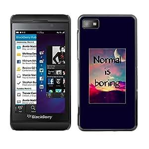 SKCASE Center / Funda Carcasa - Puesta del sol inspirada Boring;;;;;;;; - Blackberry Z10