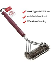 Take 100% Rust Proof BBQ Grill Brush Cleaner By USA Q'Grill – Best Barbecue Cleaning Tool – Made of Stainless Steel... cheapest