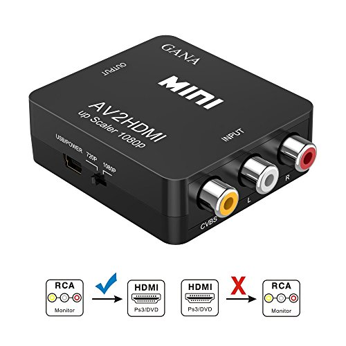 Rca To Hdmi Gana 1080p Mini Rca Composite Cvbs Av To Hdmi