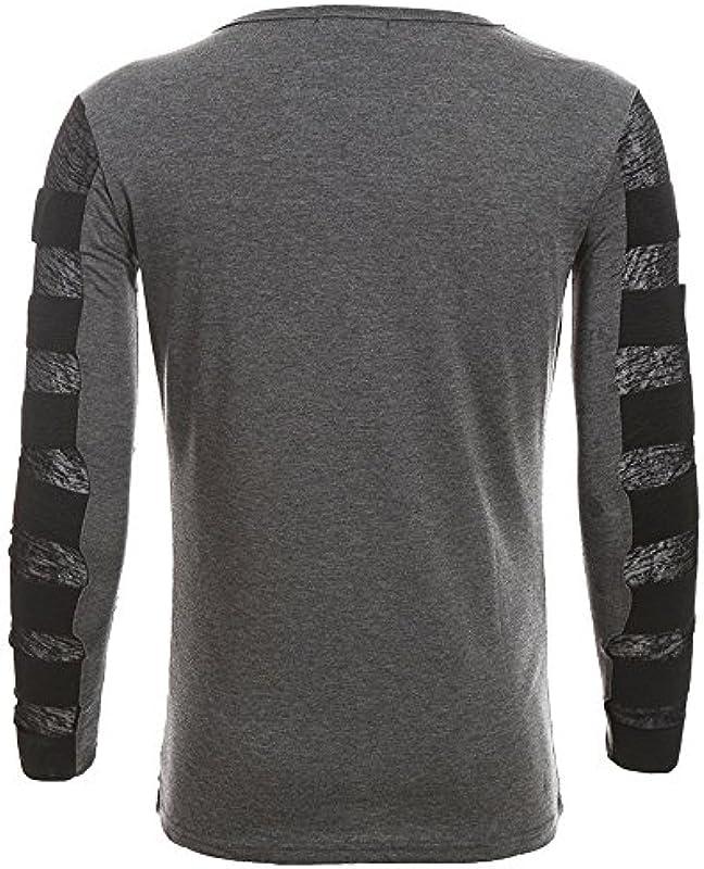 OSYARD sweter bluzka męska, zima jesień Pure Color sweter z długim rękawem splice stretch Slim bluza z okrągłym dekoltem czas wolny topy koszulki outwear spodnie ubranie: Odzież