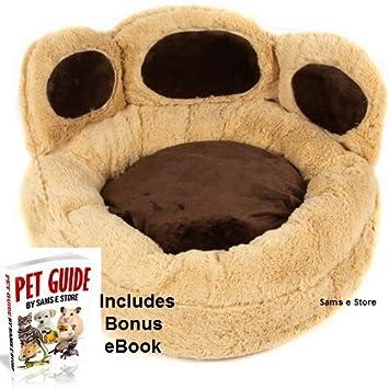 Diseño de pata de perro cama acolchada peluche Novelty apto también para cachorros y gatos extraíble cojín antideslizante Base: Amazon.es: Productos para ...
