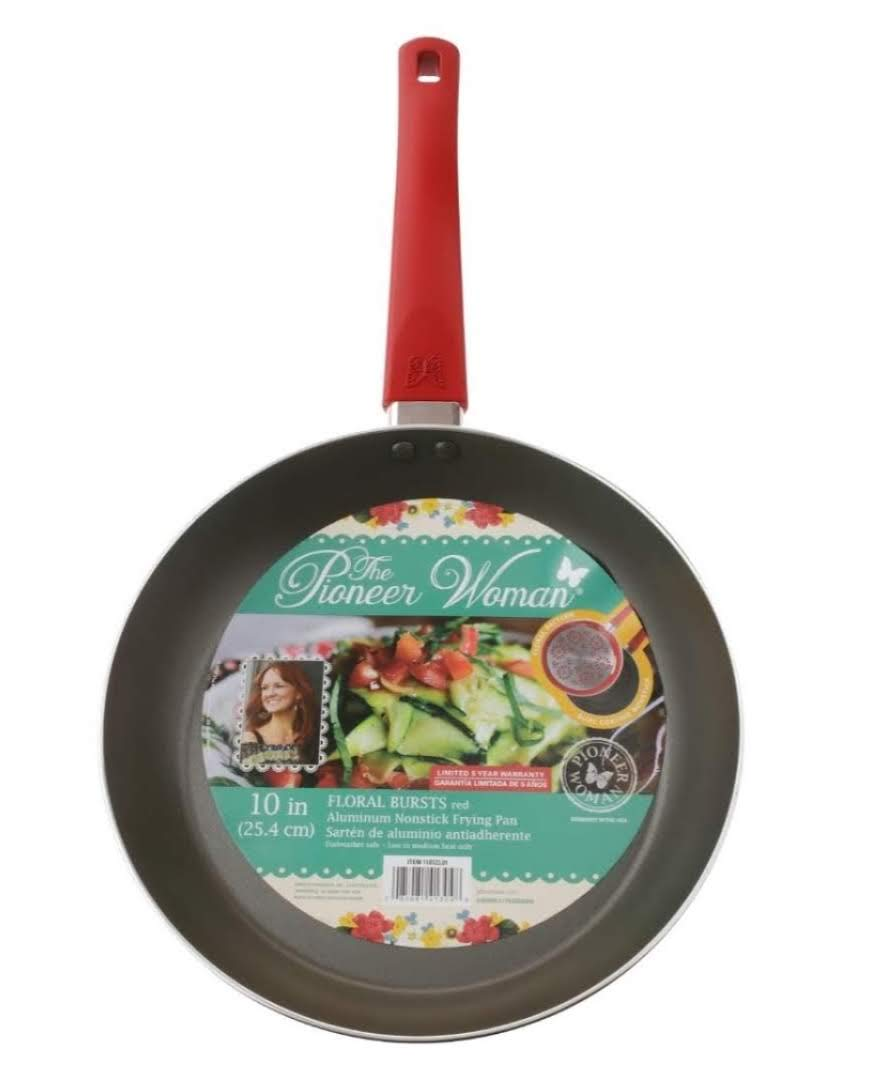 Amazon.com: The Pioneer Woman Floral Bursts Frying Pan Red 10