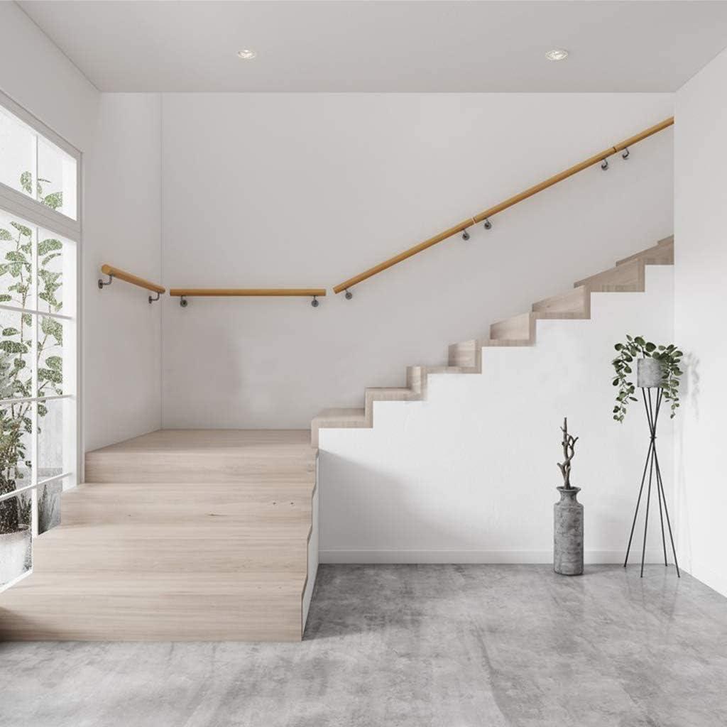 30-600cm Pasamanos de Escalera con Soporte, Home Pasamanos Antideslizantes for escaleras de Madera contra la Pared Loft Interior Barandillas for Ancianos Pasamanos Barra de Soporte (Size : 220cm) : Amazon.es: Hogar