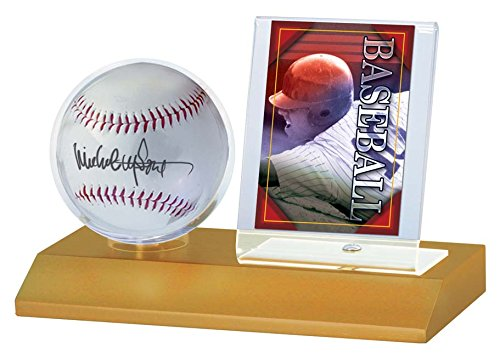 MLB Wood Baseball and Card Holder ()
