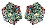 New Michal Negrin Earrings with Multi sparkling Swarovski crystals 16683 Floral Clips Earrings