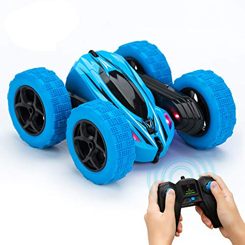 (RC Cars for Kids KOOWHEEL Remote Control Car 360 Rotating 4WD Off Road Double Sided Rotating Tumbling - 2.4GHz High Speed Rock Crawler Vehicle with Headlights Children Birthday Gifts RC Car for Kids)