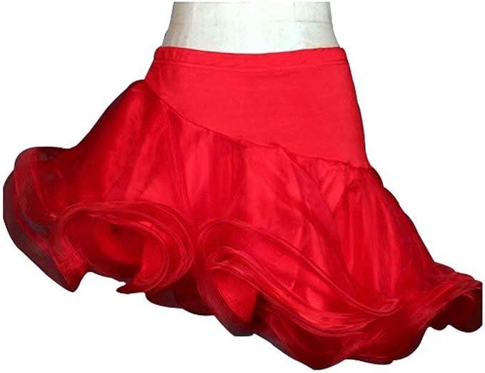 Vestidos y Faldas de Baile Latino Rendimiento para Mujeres Rayón ...