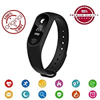 Xiaomi Redmi 4 (4X) compatible Smart Bracelet Fitband with Heart Rate Monitor OLED Display Bluetooth 4.0 Waterproof Sports Health Activity Fitness Tracker Bluetooth Wristband Pedometer Sleep Monitor Black Waterproof Smart Bracelet | Call Reminder | Clock | Remote camera | Anti-lost Function by SYL
