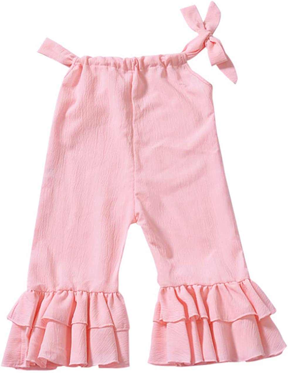 LOOLY Baby Girls Romper Jumpsuit Ruffle Bell Bottoms Overall Pants