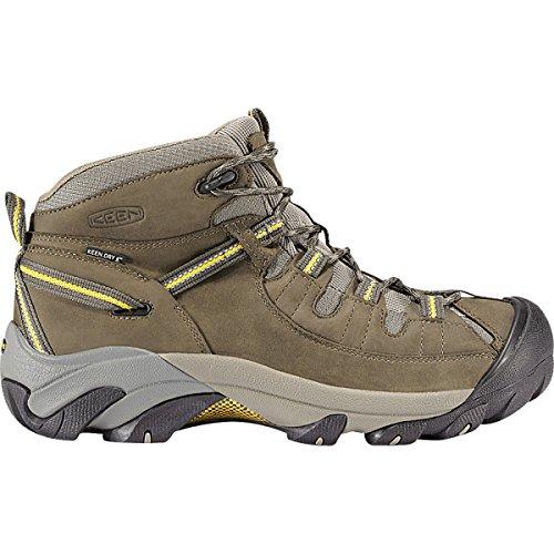 KEEN Men's Targhee II Mid Waterproof Hiking Boot,Black Olive/Yellow,12 M US