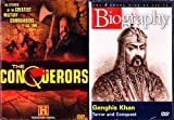 The Conquerors the Greatest Military Commanders of All Time 12 History Channel Episodes , Biography Genghis Khan : 4 Disc Box Set : Over 10 Hours