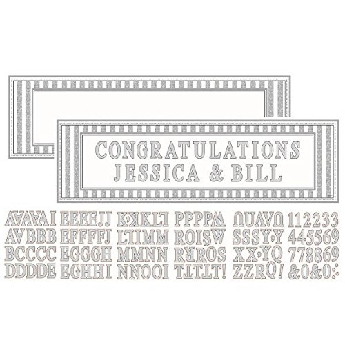 Amscan Glamorous Personalized Giant Sign Banner Wedding Party Decoration, 65'' x 20'', Pack of 121. (1452 Piece) by Amscan