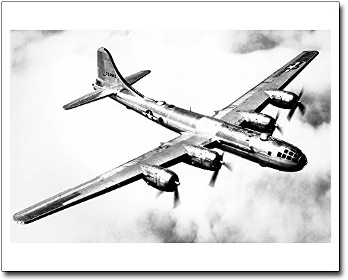 Boeing B-29 Superfortress in Flight WWII 11x14 Silver, used for sale  Delivered anywhere in USA