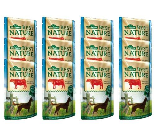 Dehner Best Nature Hundefutter, Adult Rind und Spätzle mit Karotten, im Beutel, 12 x 150 g (1.8 kg)