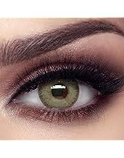 """Farblinsen Bella""""Gray Olive"""" Kollektion""""Elite"""" natürliche farbige Kontaktlinsen, Monatslinsen - inklusive deutscher Anleitung - ohne Stärke - 1 Paar (2 Stück)"""
