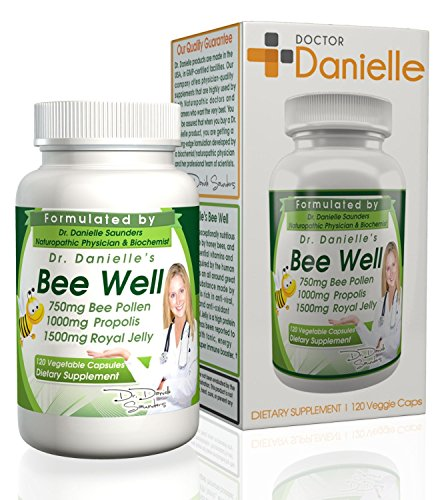 Dr. Danielle's Bee Well (Royal Jelly 1500mg, Propolis 1000mg