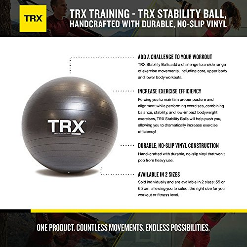 TRX Training - TRX Stability Ball, Handcrafted with Durable, No-Slip Vinyl (65 cm Diameter)