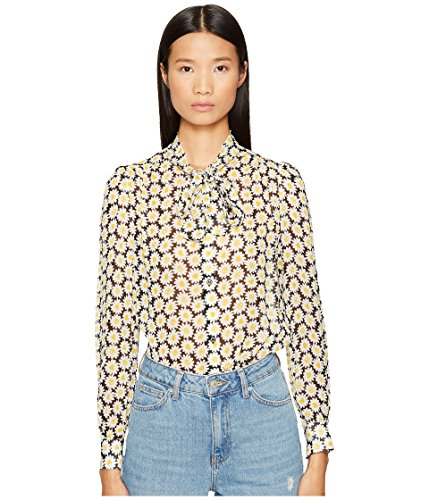 Love Moschino Women's Daisy Knot Top Black 46 ()