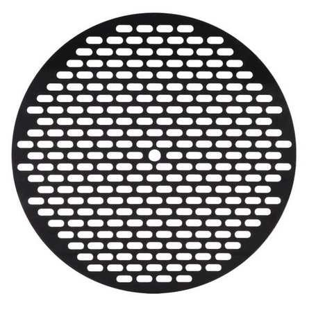 Drum Funnel Screen, Steel, 1/8 in. H, Black