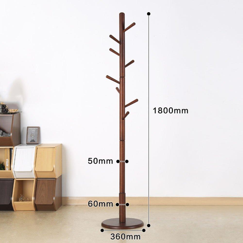 JIEJIELL Ausstattung Holz Garderobenständer,Stand-aufhänger Baum-Zweig-Stil Robust Hut-aufhänger-Halter-K (70.8x14.2inch) 180x36cm