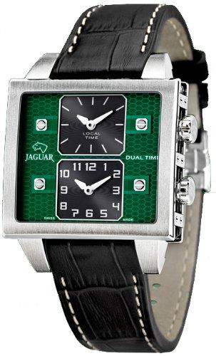 Jaguar Reloj para Hombre Analógico de Cuarzo con Brazalete de Piel de Vaca J614/B: Amazon.es: Relojes