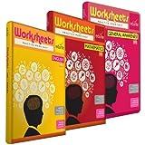 Edurite Combo Worksheets (Bundle) for UKG ( KG 2 ) and Montessori (4-6 yrs) (Mathematics, English and General Awareness)