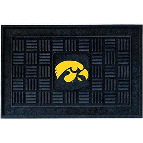 NCAA University of Iowa Medallion Door Mat