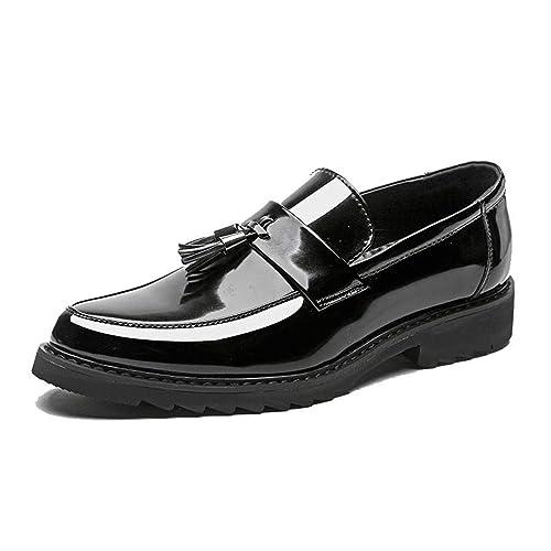 Mocasines de Vestir para Hombres Cuero de Microfibra Formal Negocio Zapatos Oxfords Pisos de Hombre para Fiesta: Amazon.es: Zapatos y complementos