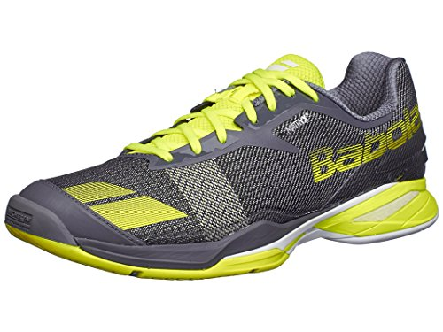 Babolat Men's Jet All Court Tennis Shoes (Grey/Yellow) (8.5 D(M) US)