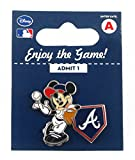 MLB Atlanta Braves Disney Pin - Mickey Leaning on Home Base
