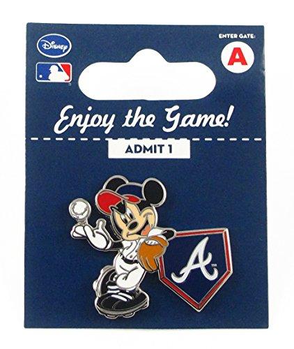 MLB Atlanta Braves Disney Pin - Mickey Leaning on Home Base ()