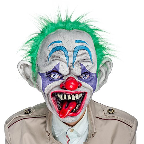 Twisty The Clown Girl Costume (Hyaline&Dora Halloween Latex Clown Mask With Hair for Adults,Halloween Costume Party Props Masks)