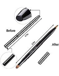 Retractable Lip Brush Concealer Makeup Dual End Travel Size Lipstick Brush With Cap