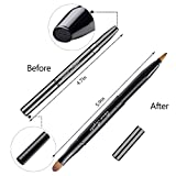 Retractable Lip Brush Concealer Makeup Dual End Travel Size Lipstick Brush With Cap