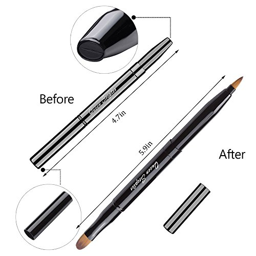 Retractable Lip Brush Concealer Makeup Dual End Travel Size Lipstick Brush With ()
