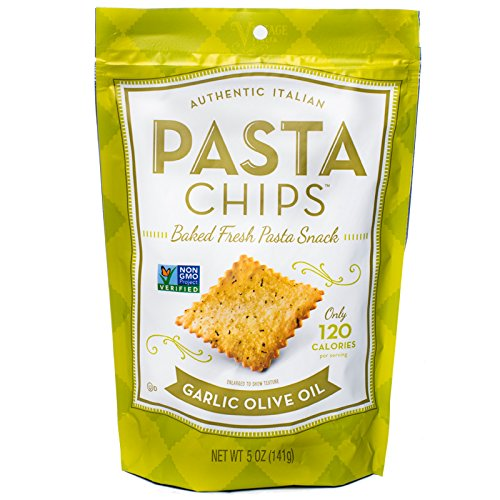 Pasta Chips, Garlic Olive Oil, 5 Ounce (Pack of 12)
