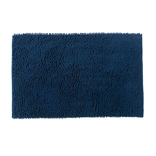 Famibay Bath Mat, Shaggy Chenille Bath Mat Microfiber Hotel Spa Bath Rug and Mat For Bathroom No slip Bath Tub and Shower High Absorbent Soft Large Accent Rugs, 23.6x35.4 Inches Navy by Famibay (Image #7)