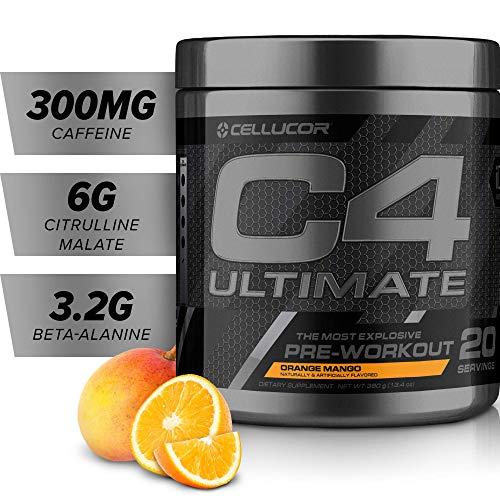 C4 Ultimate Pre Workout Powder Orange Mango | Sugar Free...