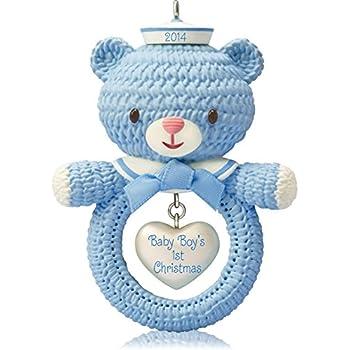 Amazon.com: Hallmark Keepsake Ornament Baby Boy's First ...